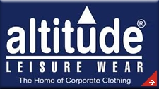 Altitude. Suppliers of corporate and promotional clothing as well as caps, pens, bags, keyrings, umbrellas etc.  Embroidered garments and headwear. Promotional gifts, corporate gifts. Computer gadgets. Kids clothing.  Work wear - branded safety wear, t-shirts, jackets, shirts, Hospitality clothing - chefs clothing, aprons. Barron Clothing.  Corporate gifts and clothing. T Shirt printing. Embroidery. Promotional clothing.