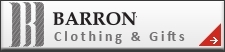 Barron. Suppliers of corporate and promotional clothing as well as caps, pens, bags, keyrings, umbrellas etc.  Embroidered garments and headwear. Promotional gifts, corporate gifts. Computer gadgets. Kids clothing.  Work wear - branded safety wear, t-shirts, jackets, shirts, Hospitality clothing - chefs clothing, aprons. Barron Clothing.  Corporate gifts and clothing. T Shirt printing. Embroidery. Promotional clothing.